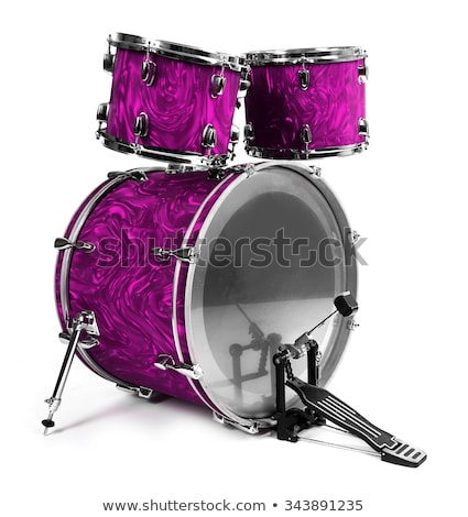 Snare Drum Copper Isolated on Purple Stock photo © mkm3