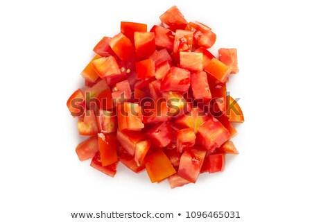 Kıyılmış domates taze olgun asma kırmızı Stok fotoğraf © toaster