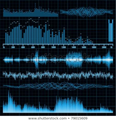 Stock photo: Sound waves set. Music background. EPS 8
