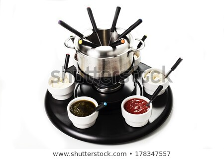 Cast iron fondue set Stock photo © Antonio-S