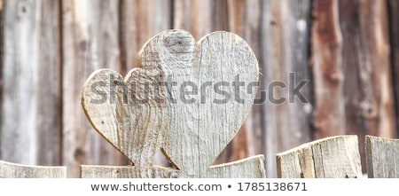 сердце · старые · двери · любви · древесины - Сток-фото © alvinge