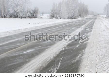 hó · fúj · autópálya · államközi · 80 · Wyoming - stock fotó © pancaketom
