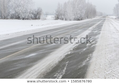 Neige autoroute interstate visibilité ciel Photo stock © pancaketom