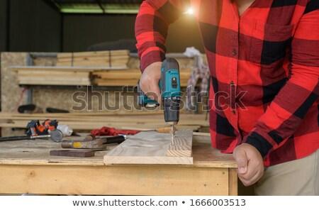 職人 作業 コードレス ドリル 作業 ホーム ストックフォト © photography33