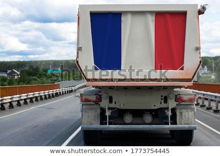 França bandeiras fila negócio bandeira tecido Foto stock © Artphoto