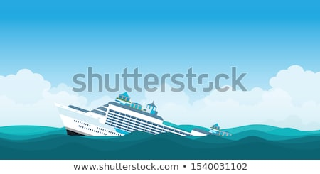 Stock photo: Titanic boat in the storm