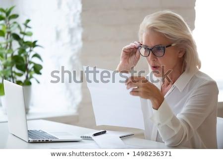 удивленный деловая женщина бизнеса Sexy исполнительного губ Сток-фото © photography33