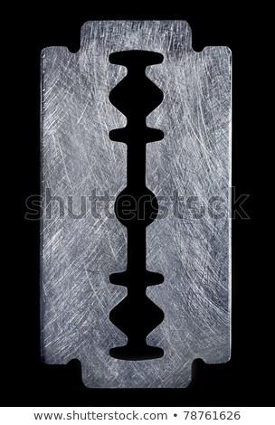 Ecset acél textúra borotva penge Stock fotó © Akhilesh