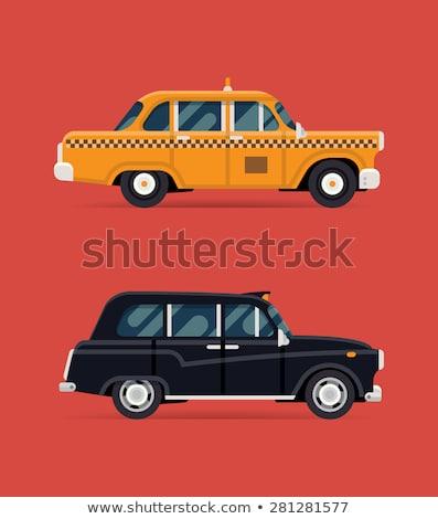 старые современных Нью-Йорк традиционный такси Сток-фото © bobbigmac