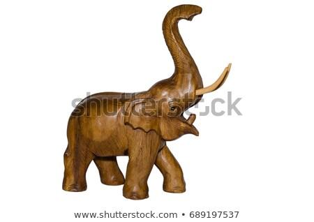 слон статуэтка Таиланд изолированный белый Сток-фото © dmitry_rukhlenko