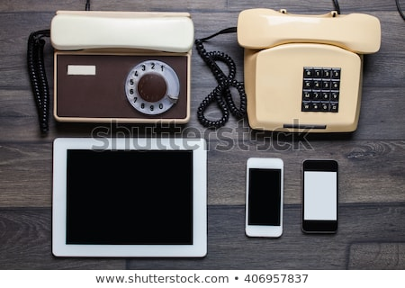 Bordo telefono evoluzione lavagna telefoni Foto d'archivio © romvo
