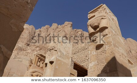 relief at the Mortuary Temple of Hatshepsut Stock photo © prill