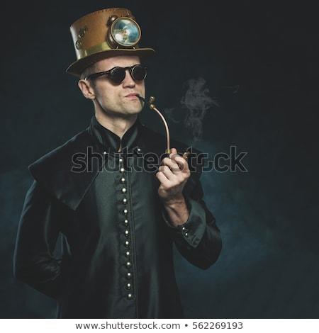 Steampunk modell nő gótikus kaukázusi vonzó Stock fotó © Sarkao