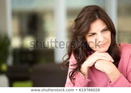 vrouw · volwassen · leeftijd · angst · geïsoleerd - stockfoto © lisafx