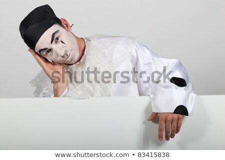 男 衣装 ボード 準備 文字 顔 ストックフォト © photography33