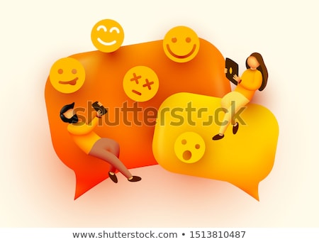 3d small people   balloon question stock photo © anatolym