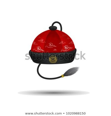 китайский Hat аннотация краской иллюстрация искусства Сток-фото © robertosch