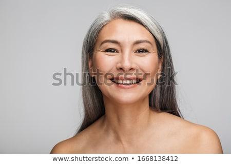 bela · mulher · posando · topless · fresco · estúdio - foto stock © dash
