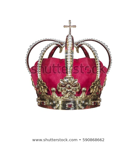 Stock photo: Golden Royal Crown Isolated on White.