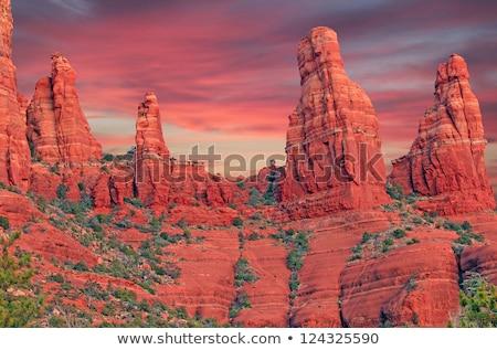 vermelho · rocha · sudoeste · naturalismo · pontes · parque - foto stock © billperry
