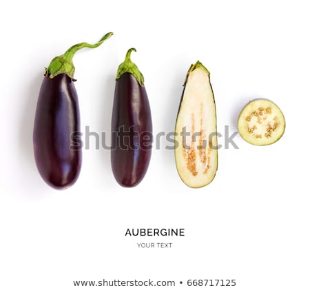 Berenjena berenjena vegetales blanco fondo negro Foto stock © ozaiachin