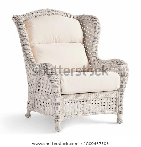 bruin · stoel · interieur · witte · muur · hout - stockfoto © 3523studio