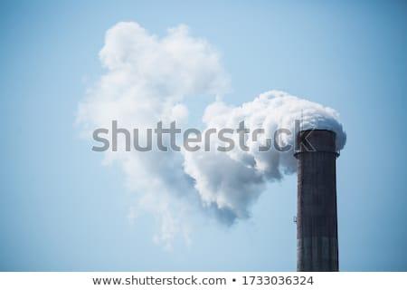 Ipari kék felhős égbolt kép füst Stock fotó © stevanovicigor