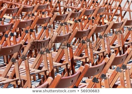 sandalye · konferans · salon · iş · eğitim - stok fotoğraf © bertl123