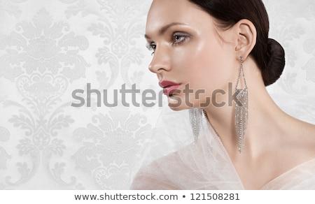 portre · çekici · kadın · Retro - stok fotoğraf © pawelsierakowski