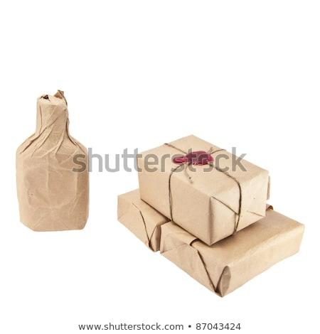 nyitva · alkohol · üveg · papírzacskó · kéz · tart - stock fotó © snyfer