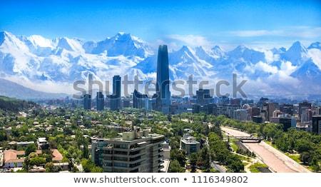 近代建築 サンティアゴ チリ 青空 雲 ストックフォト © benkrut