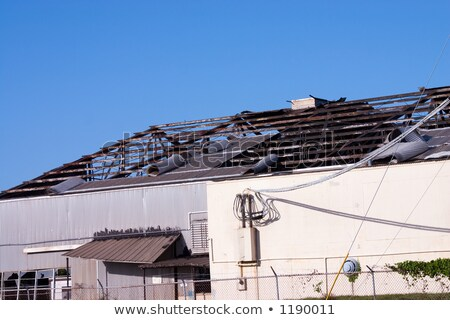 Destruction of a commercial building by hurricane  Stock photo © lunamarina
