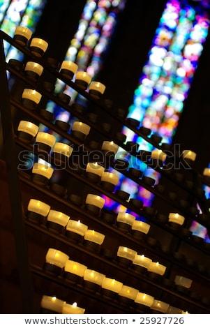 oração · velas · Paris · catedral · fogo · religião - foto stock © chris2k