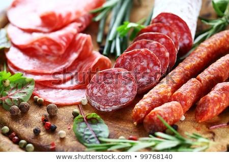 ломтик колбаса бекон красный мяса Сток-фото © Discovod