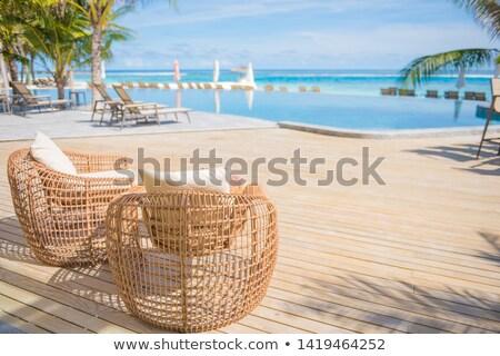lege · outdoor · zwembad · Blauw · metaal · zilver - stockfoto © ozgur