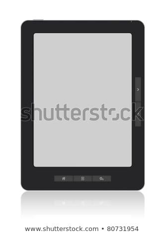 Portátil ebook leitor isolado branco livro Foto stock © Escander81
