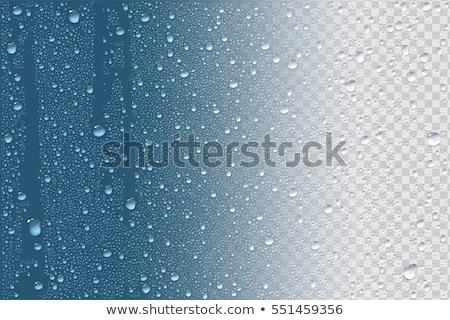 Naturalnych kroplami wody szkła tekstury tle deszcz Zdjęcia stock © ptichka