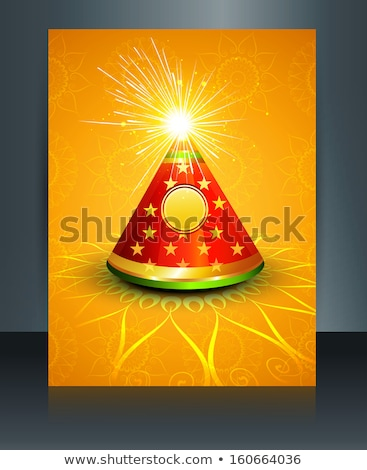 Stock photo: Stylish reflection Vector template diwali brochure festival back