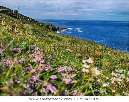 Sennen Cove beach and Cape Cornwall panorama, Cornwall UK. Stock photo © latent