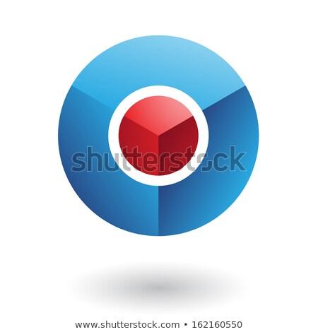 Azul círculo vermelho núcleo abstrato ícone Foto stock © cidepix