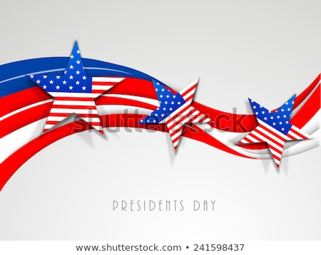 president day in united states of america with colorful wave des stock photo © bharat