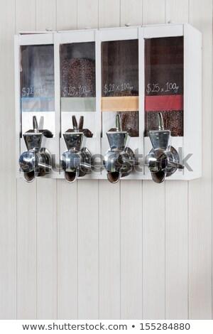 number from coffee beans on white.  dollar Stock photo © EwaStudio