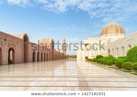 marble floor grand sultan qaboos mosque stock photo © w20er