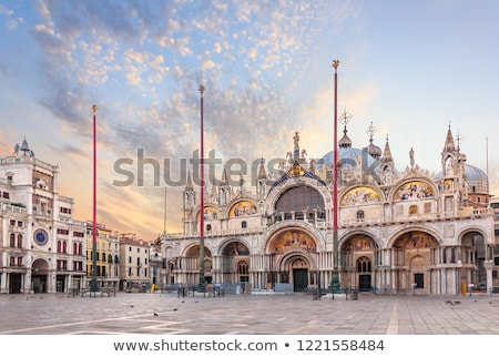 view to famous clocktower at San Marco place in Venice Stock photo © meinzahn