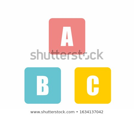 Apps - Colored Childrens Alphabet Blocks. Stock photo © tashatuvango