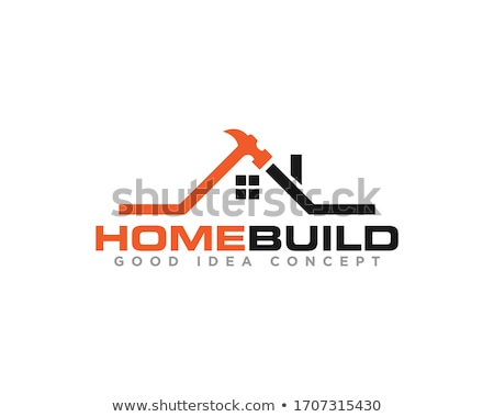 house with a roof  logo for construction or home renovation stock photo © shawlinmohd