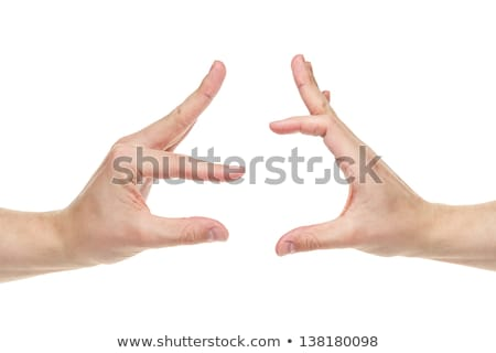 Man gesture showing size something Stock photo © fotoaloja
