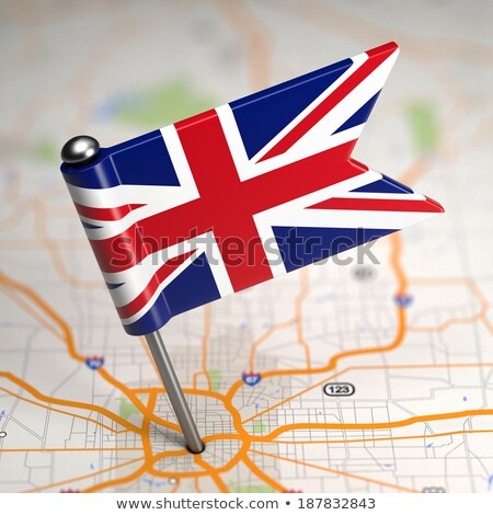 great britain small flag on a map background stock photo © tashatuvango