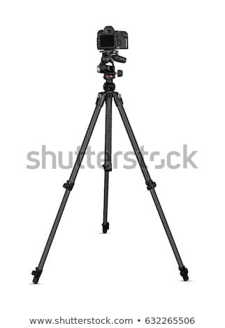 dslr camera on tripod isolated on white background stock photo © zeffss