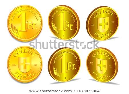 Raccolta uno monete d'oro coppia oro aquila Foto d'archivio © backyardproductions